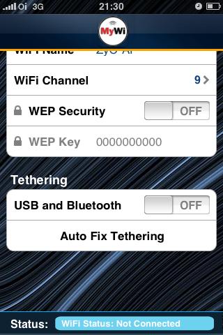 Desbloqueio da função Tethering no iPhone